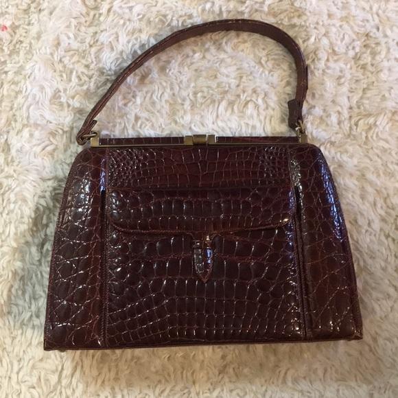 277515545909 Lucille de Paris Handbags - Vintage Lucille de Paris Crocodile